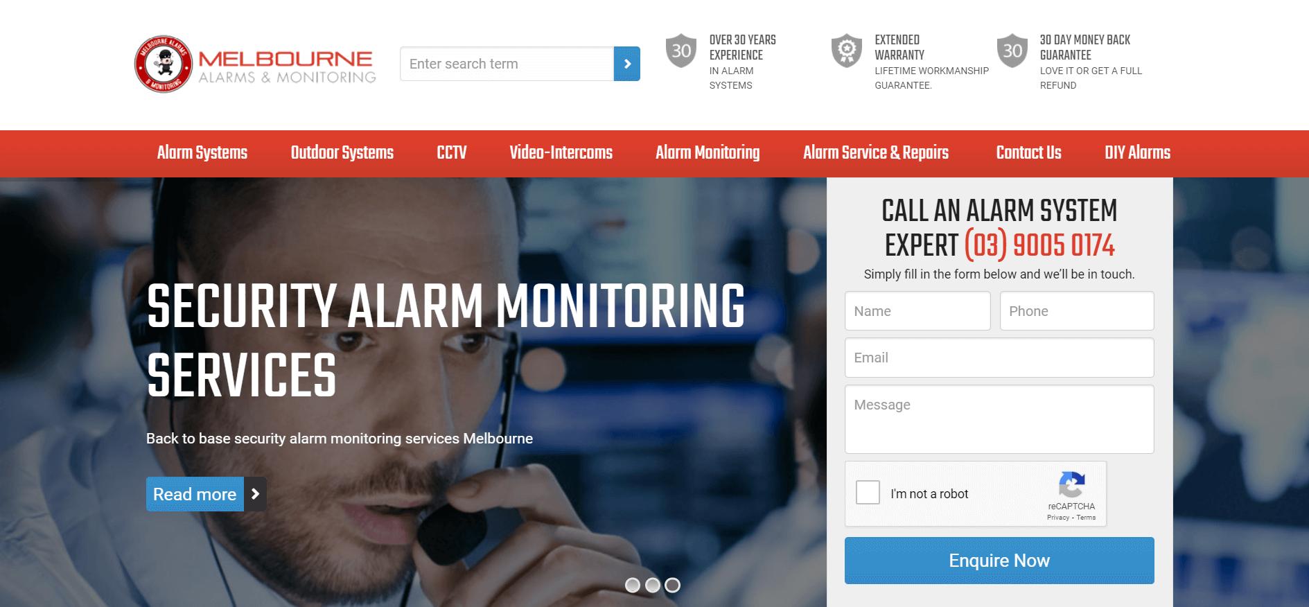 melbourne alarms